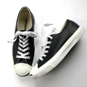 Converse Jack Purcell Black Leather Sneakers